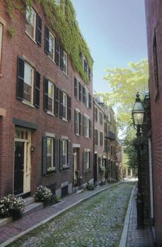 Boston's historic Beacon Hill is featured on the